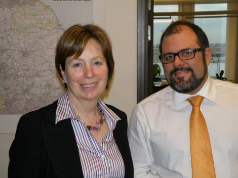 January 2012. Me with Diana Wallis preparing the European Parliament Presidency debate.